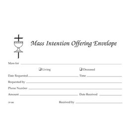 Mass Intention Offering Envelope (100)