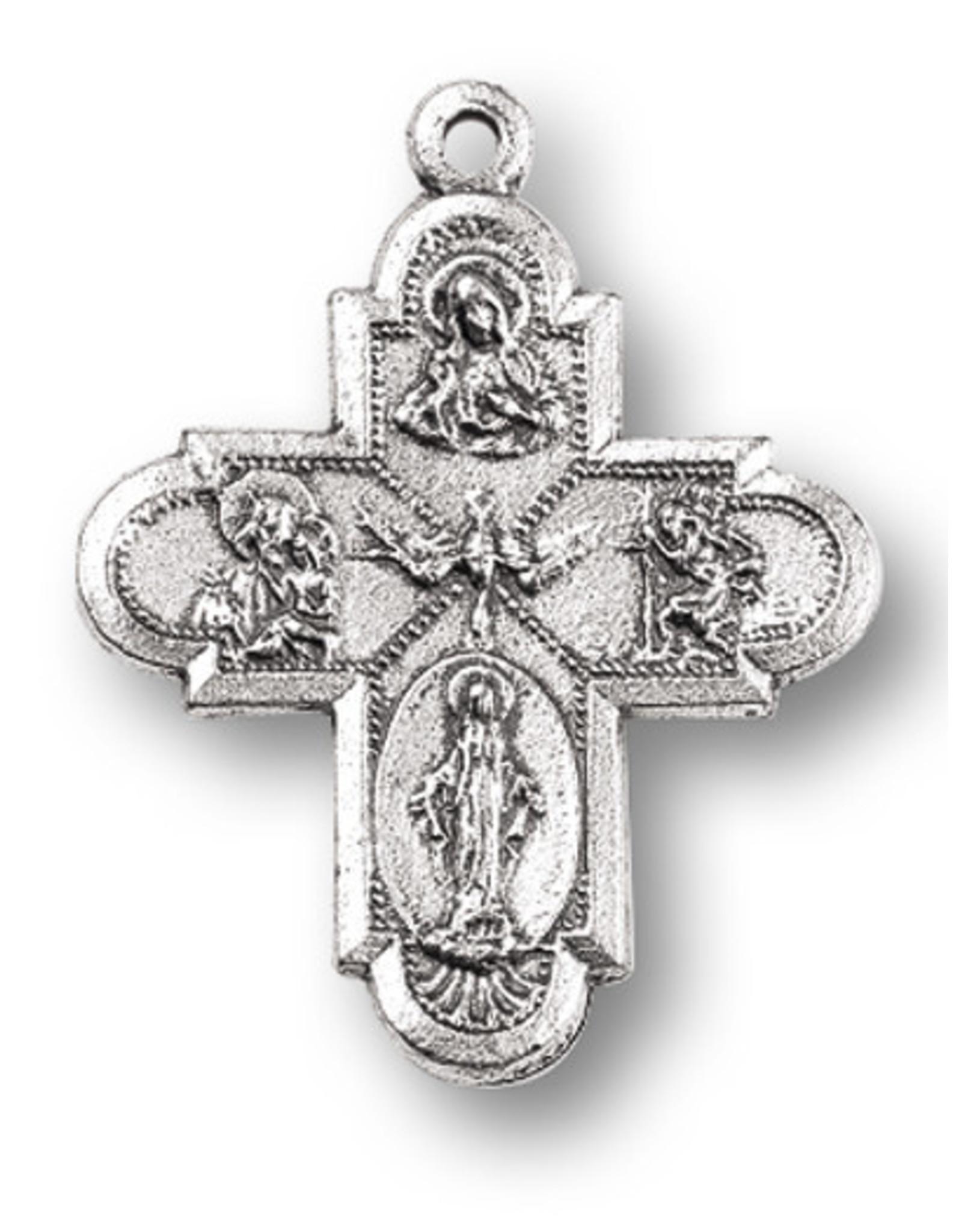 """Medal 4-Way 1"""" Antique Silver"""