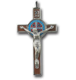 "Medal Crucifix Benedictine 3.25""/30"" Cord/Pamphlet"