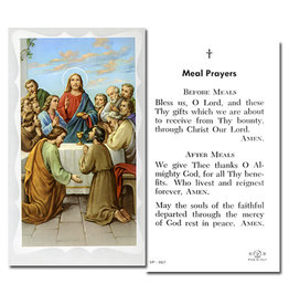 Holy Card Last Supper/Meal Prayers (100)