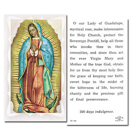 Holy Card Our Lady of Guadalupe w/Prayer (100)