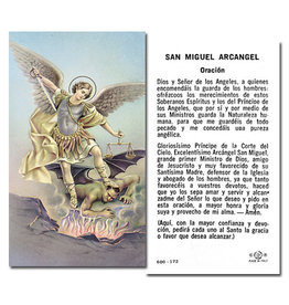 Holy Card Michael Spanish (100)