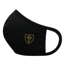 Face Mask Black w/Gold Cross
