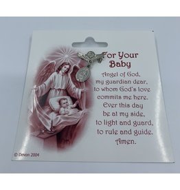 Baby Pin - Angel with Miraculous Medal