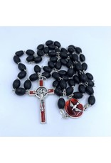 Confirmation Rosary - Black & Silver