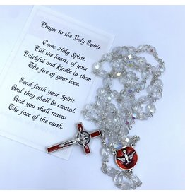 Confirmation Rosary - Crystal & Silver
