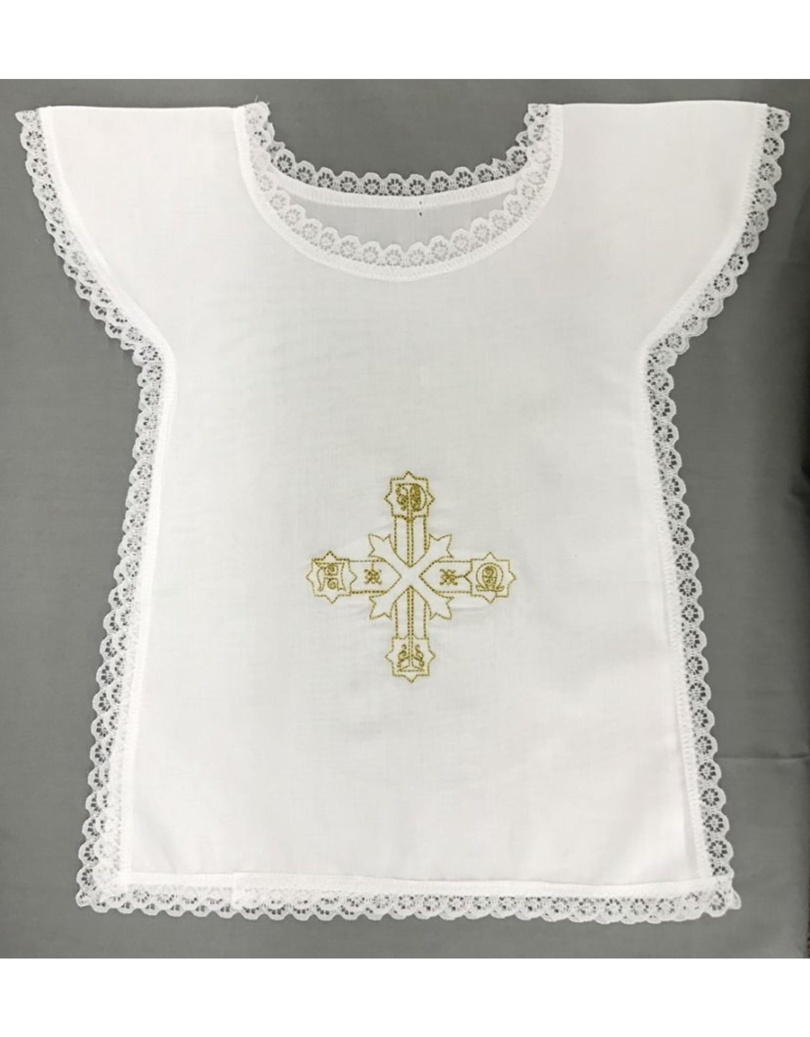 Baptism Bib Alpha/Omega Pax Cross