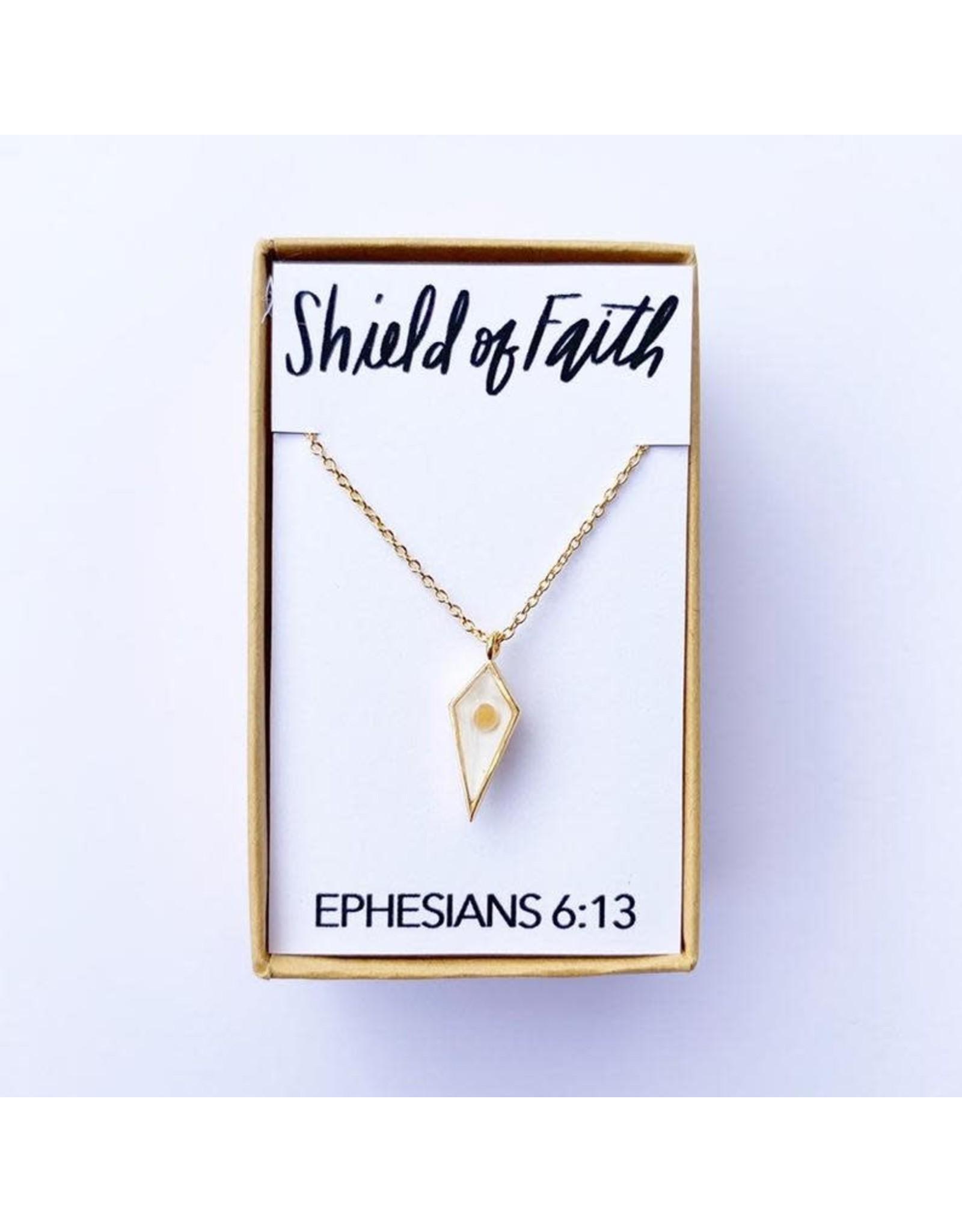 Bible Verse Necklace - Shield of Faith