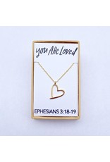 Bible Verse Necklace - You Are Loved