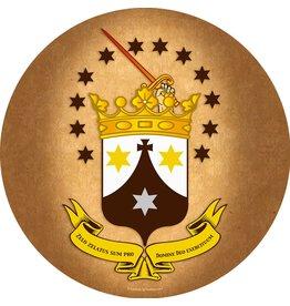 "Carmelite Crest 3"" Sticker/Decal"