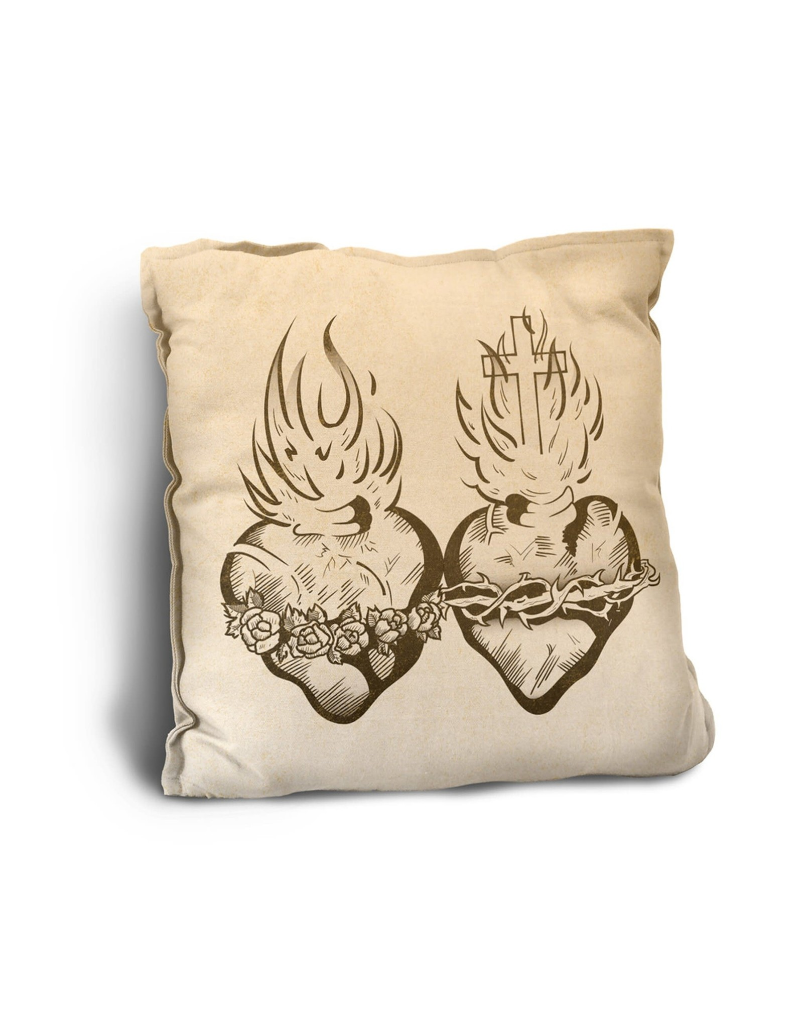 Sacred & Immaculate Hearts Pillow