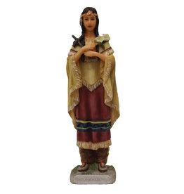 "Statue Kateri Tekakwitha Color 5-1/2"""