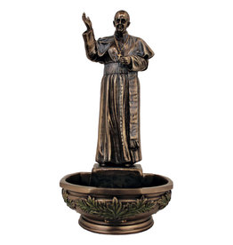 Bronze Holy Water Font Pope Francis