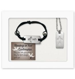 Confirmation Bracelet and Pendant Set
