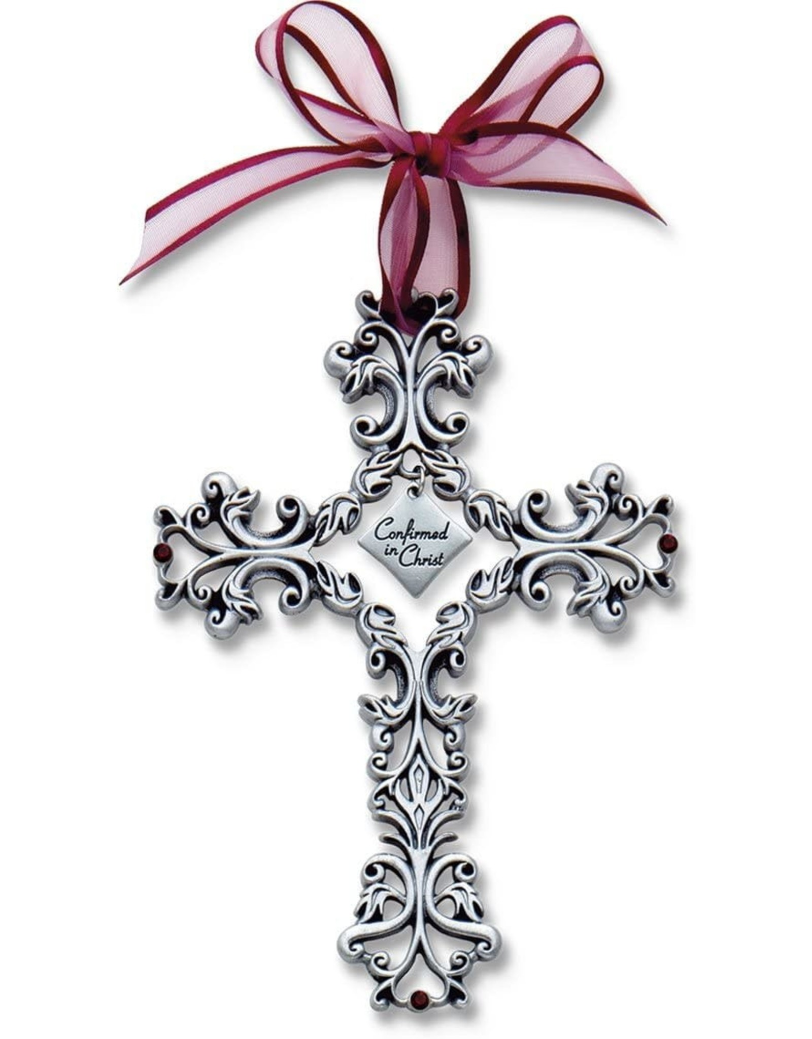 """Confirmation Cross - Filigree with Ribbon, 5"""""""