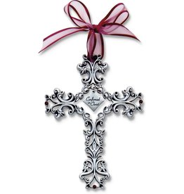 Confirmation Cross - Filigree with Ribbon, 5""
