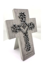 Confirmation Cross - Pewter Dove