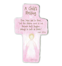 Baptism Cross - A Child's Blessing (Pink)