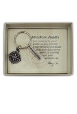 Adventure Awaits Compass Key Ring