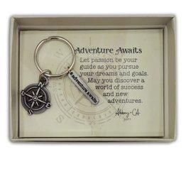 Adventure Awaits Compass Key Ring