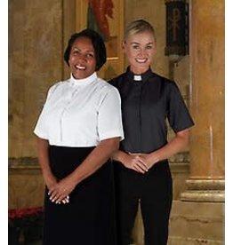 Women's Short Sleeve White Clergy Shirt Size 2X