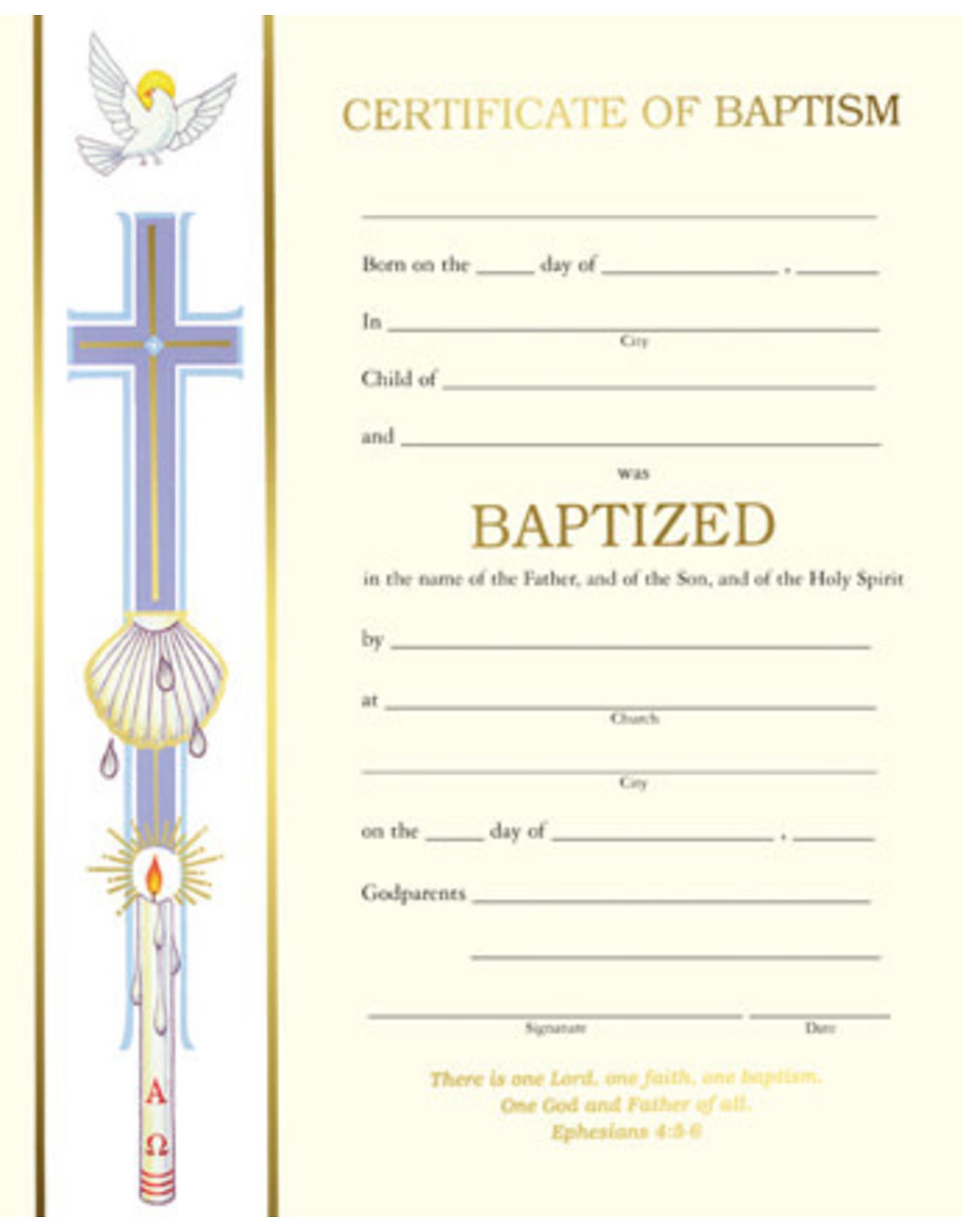 Baptism Certificate Non-Denominational (Each)