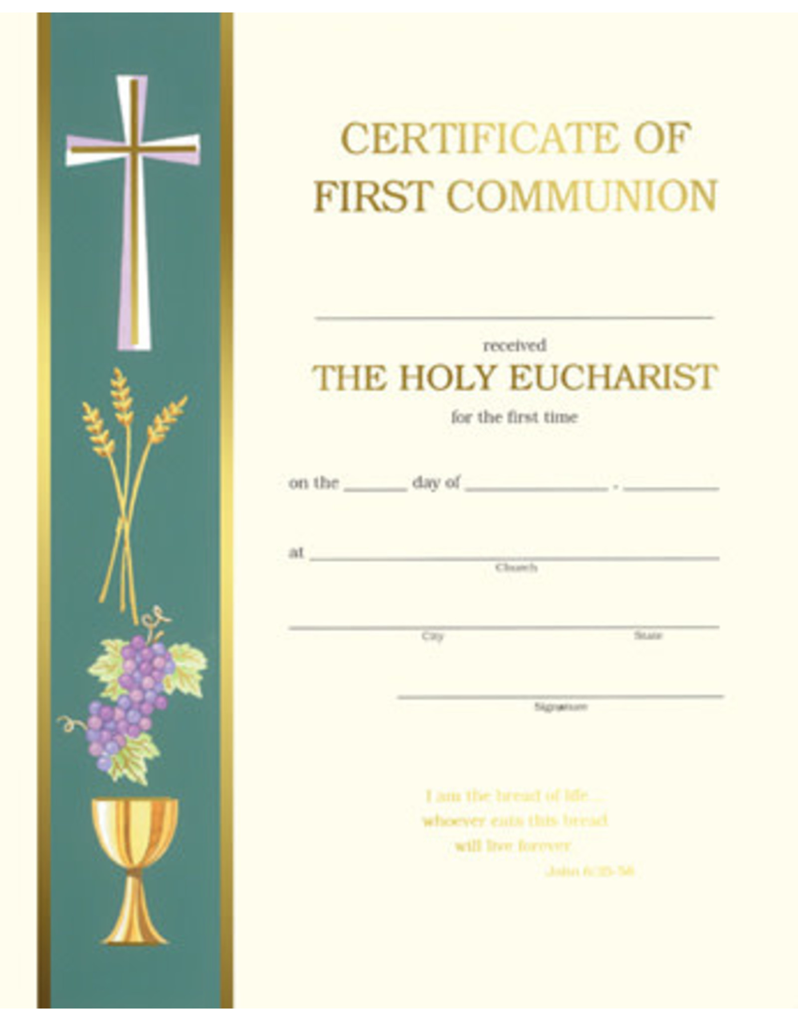First Communion Certificate (50)