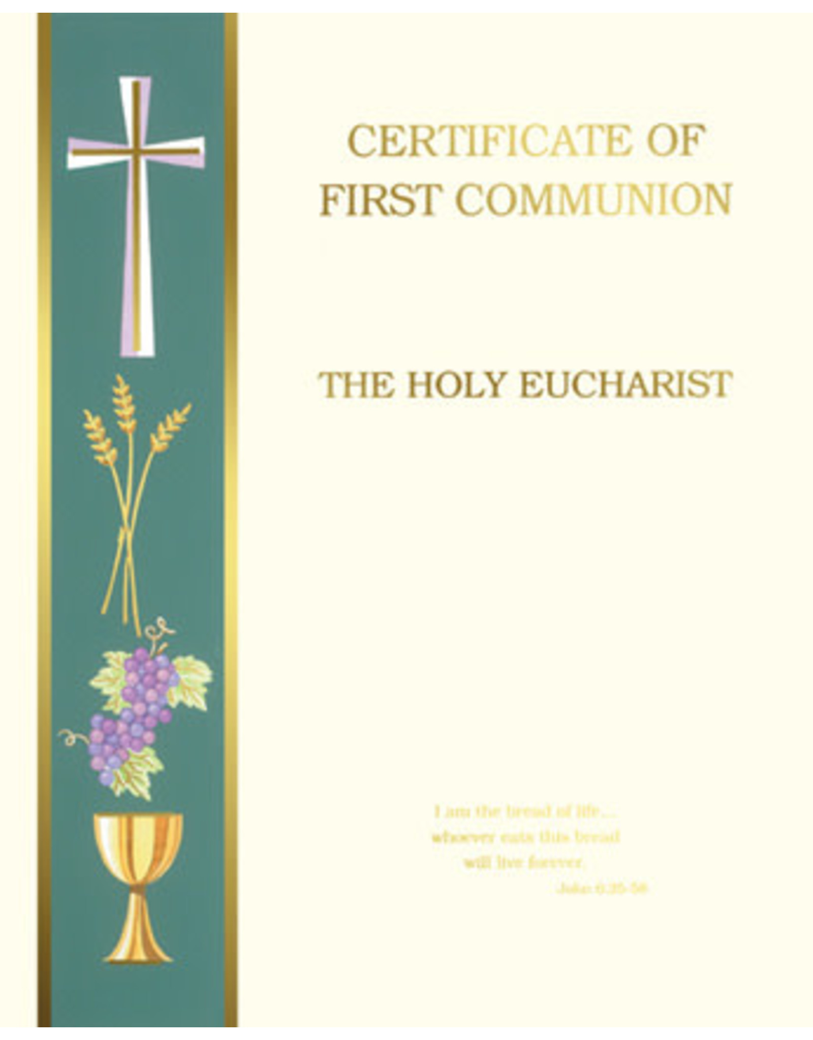 First Communion Certificate Create-Your-Own (50)