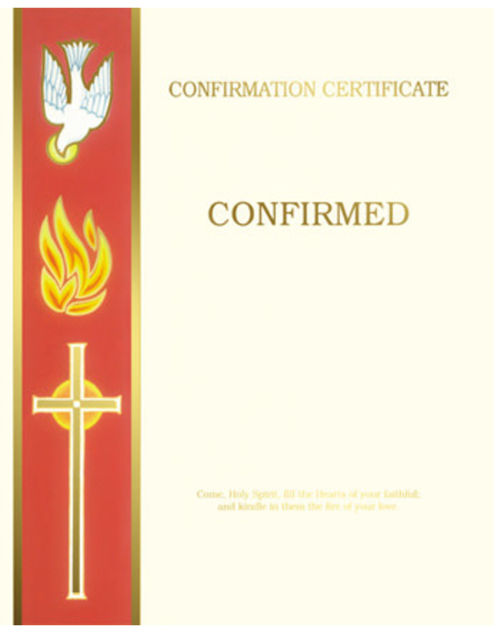 Confirmation Certificate Create-Your-Own (Each)