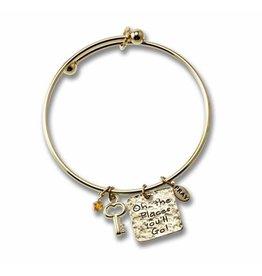 Bracelet - Graduation (Gold) - Oh the Places You'll Go