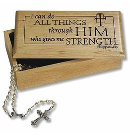 """""""I Can Do All Things"""" Wooden Keepsake Box"""