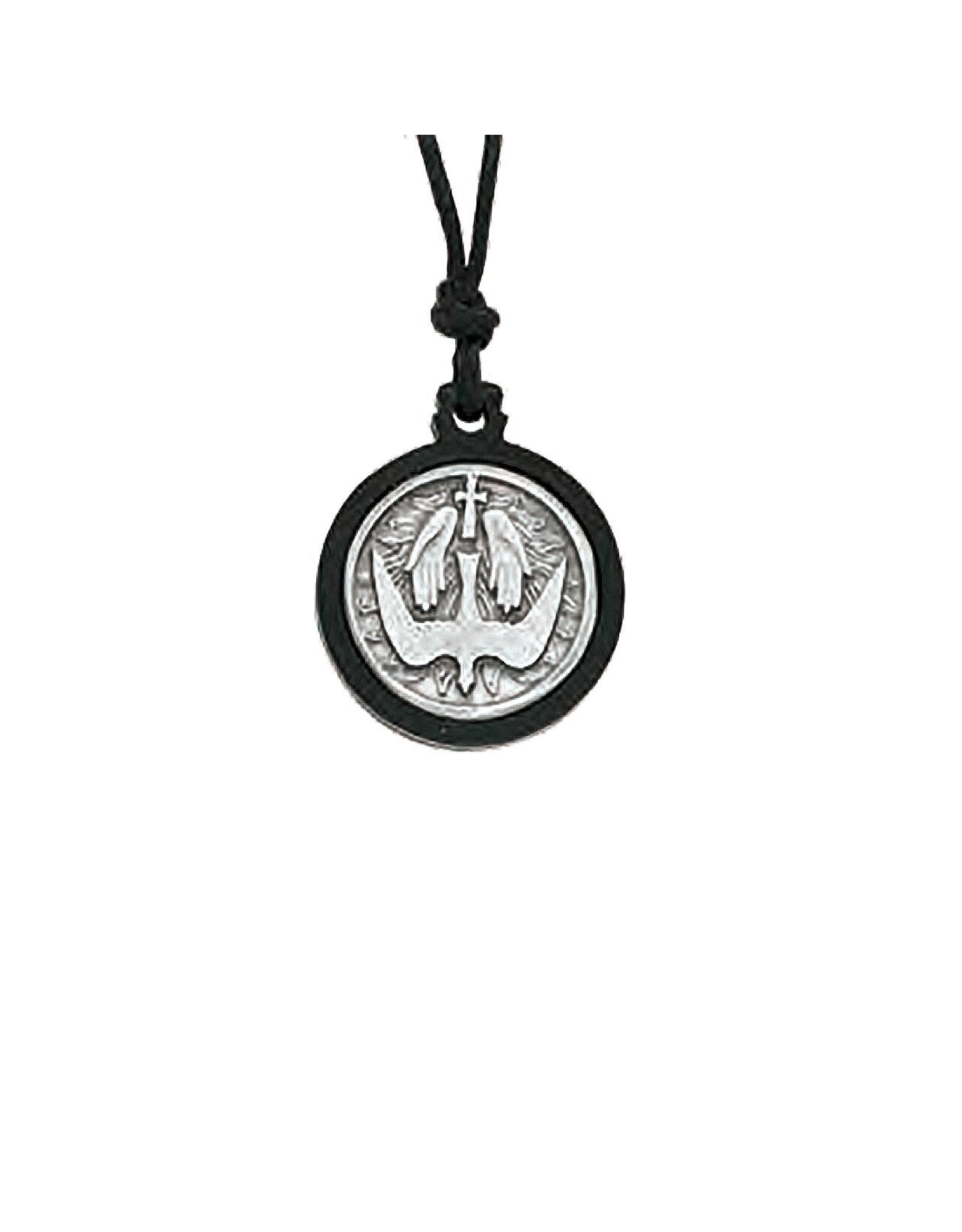Confirmation Pendant - Holy Spirit (Pewter with Black Wood)