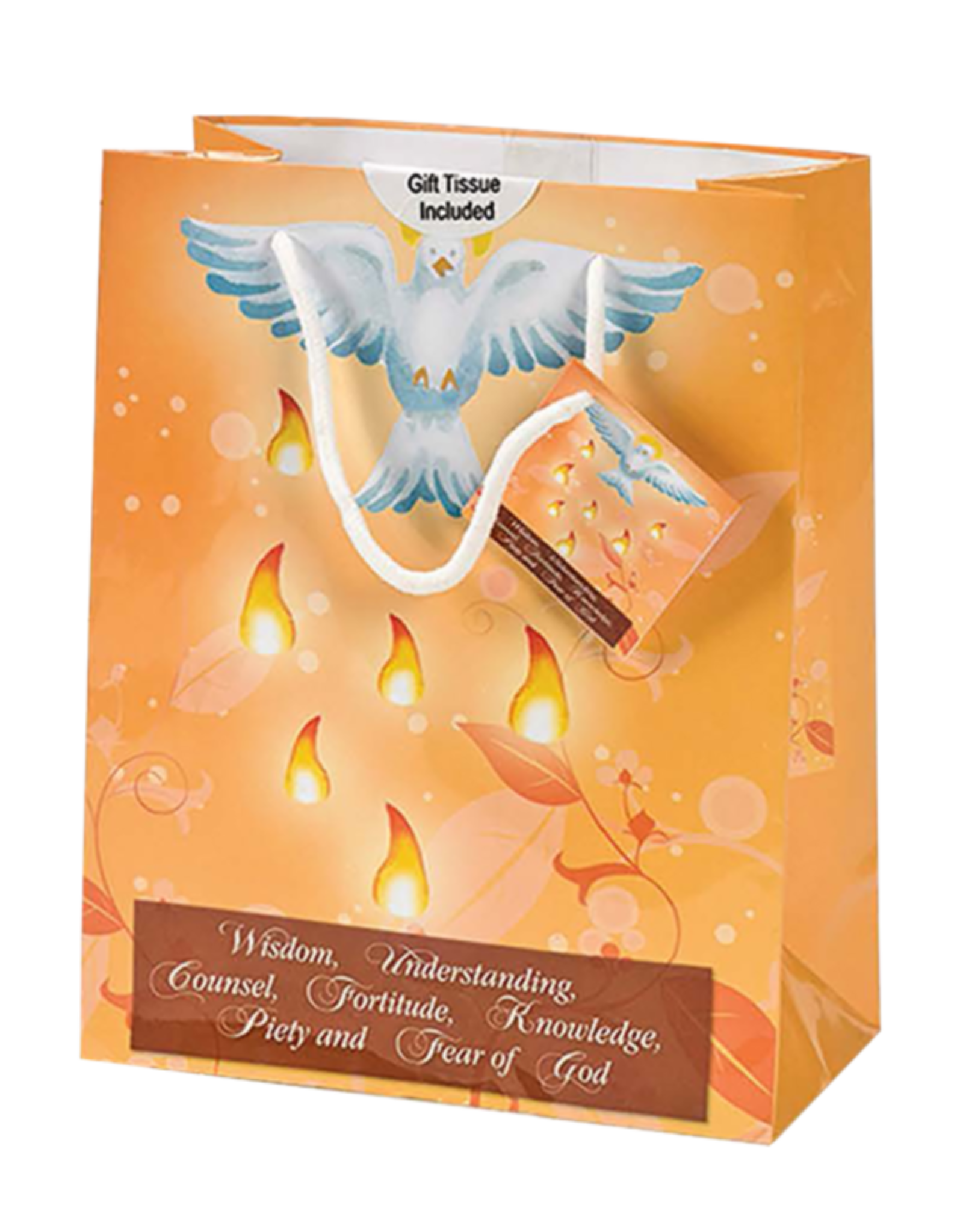 Confirmation Gift Bag - Small, Orange