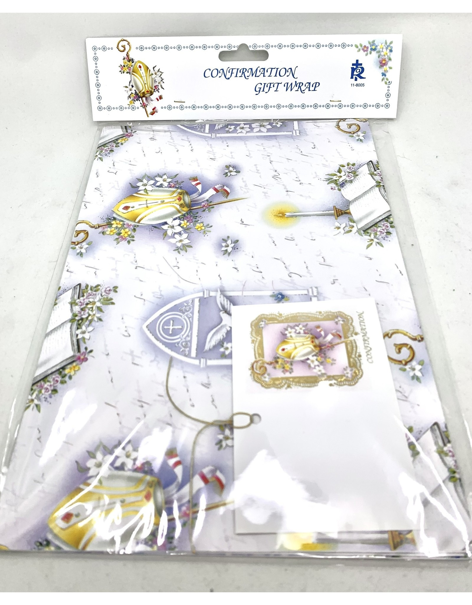 Confirmation Gift Wrap with Gift Tag