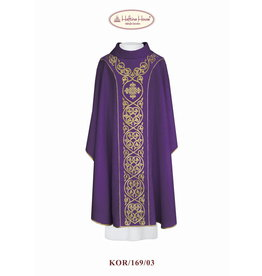 Purple Chasuble with Cross Design