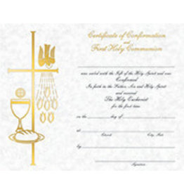 Combined First Communion/Confirmation Certificate (50)