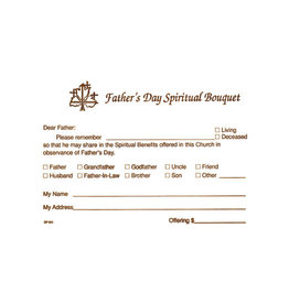 Father's Day Spiritual Bouquet Offering Envelopes (100)