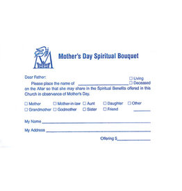 Mother's Day Spiritual Bouquet Offering Envelopes (100)