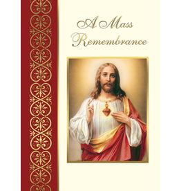 Mass Cards-Deceased Sacred Heart of Jesus (100)