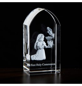 First Communion Etched Glass (Girl)