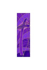 Purple Cross with Crown of Thorns Banner 2'x6'