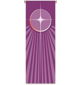 Purple Advent Star Banner