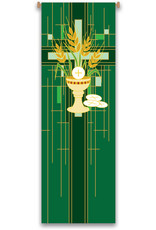 Green Chalice/Host/Wheat Banner