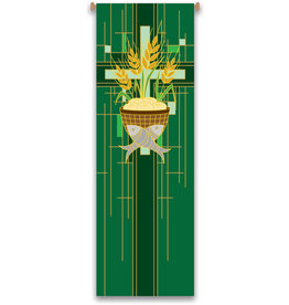 Green Host/Fish/Wheat/Cross Banner
