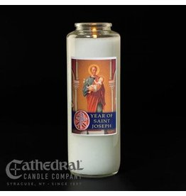 Year of St. Joseph Devotional Candle (Each)