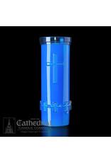 6-Day Devotiona-Lite Blue Plastic Candles (24)