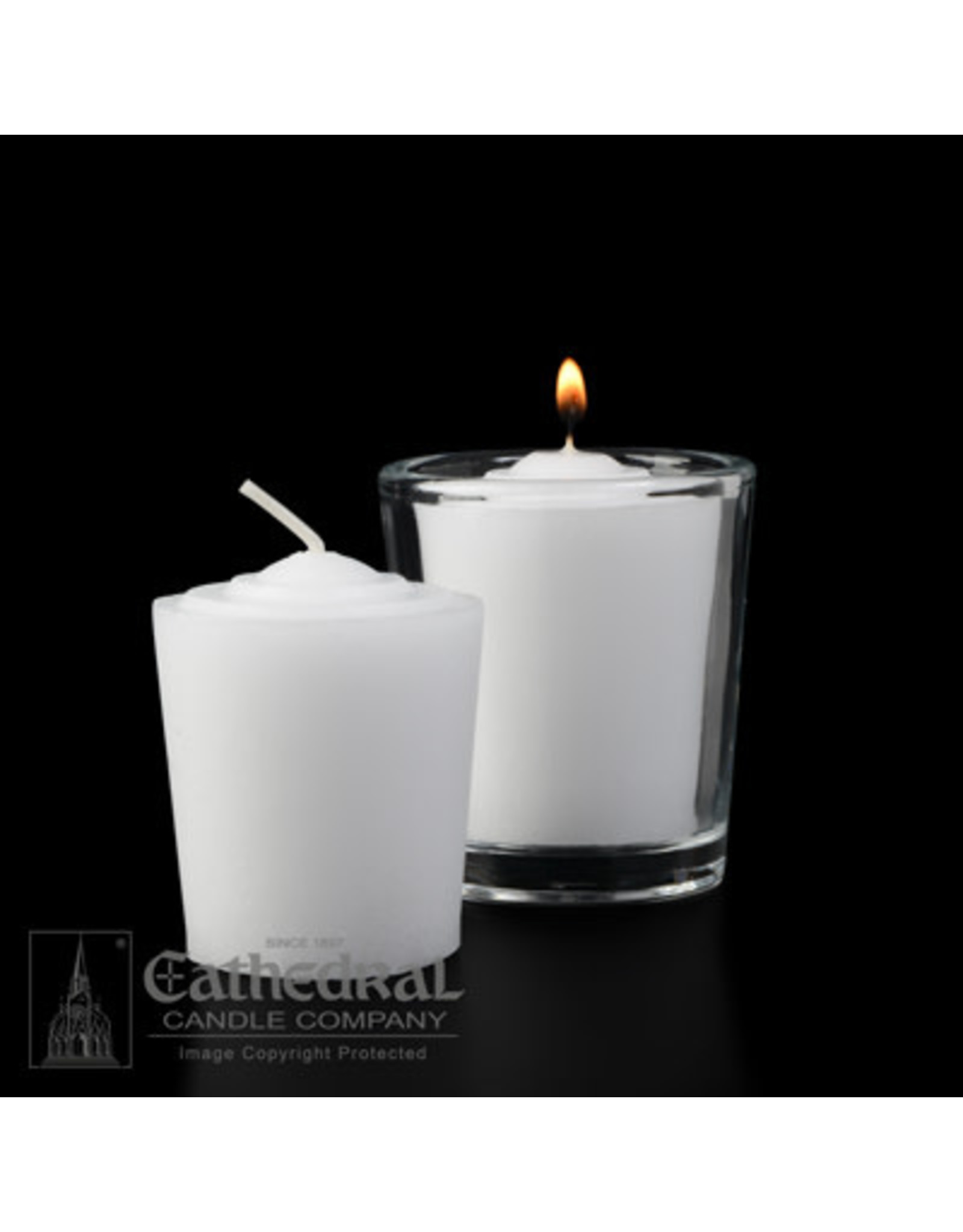15-Hour Tapered Votive Candles (Box of 36)