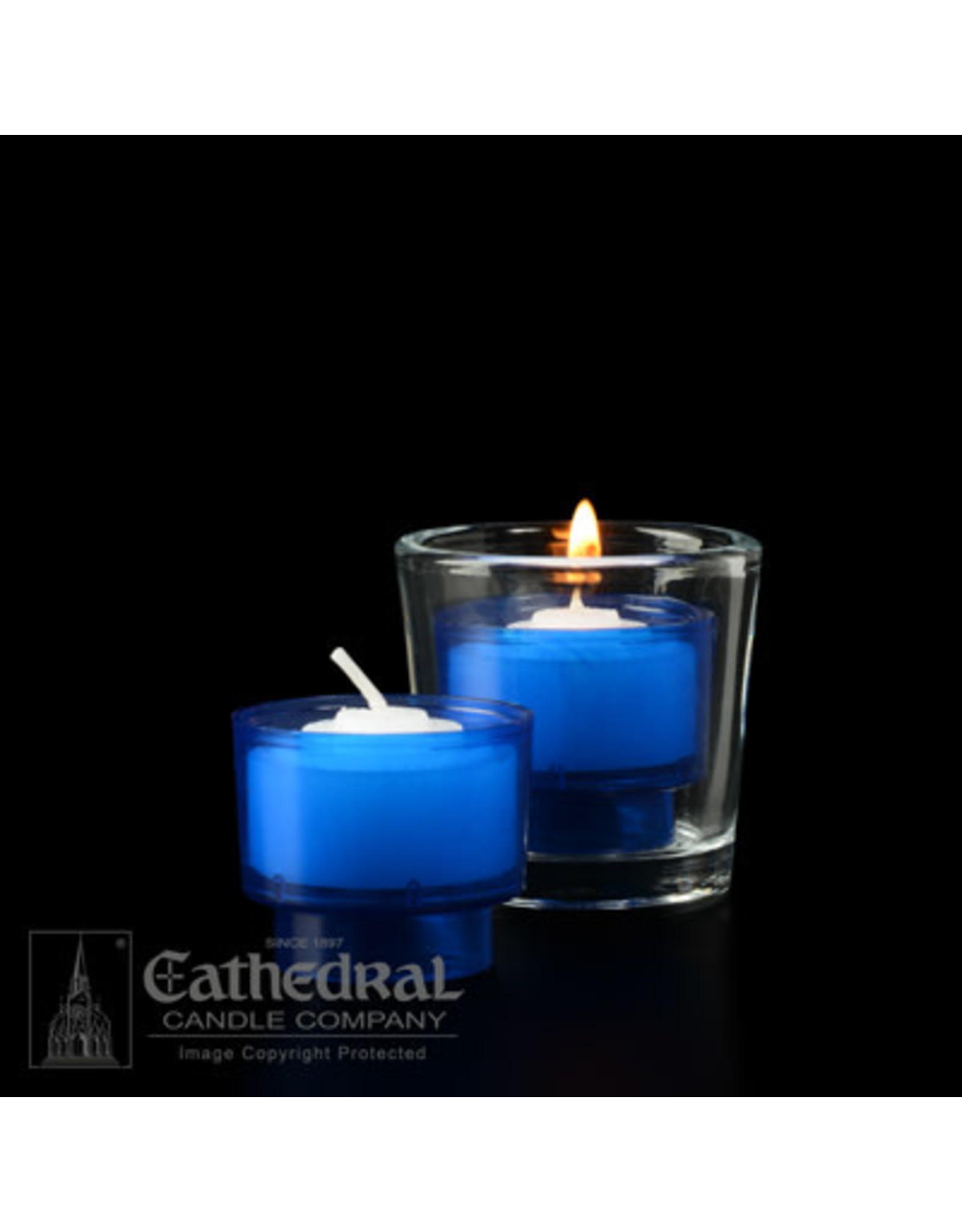 4-Hour Blue Votive ez-Lite Candles (2 Gross)