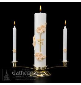 Gold & Cream Wedding Candle Set