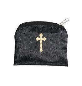 Black Silk Rosary Case